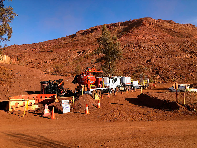 Remote area drilling, trenching and excavation in Western Australia by Geographe Underground Services (GUS)