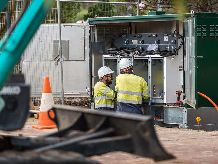 Switchgear and ground mounted equipment installation by Geographe Underground Services (GUS)